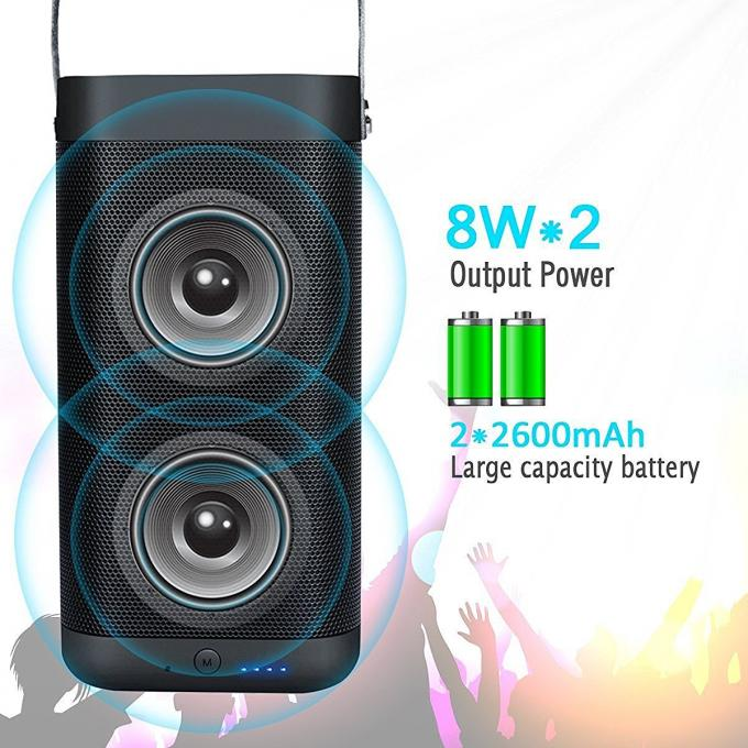 Wireless Portable Outdoor Bluetooth Speakers IPX6 Waterproof Dual 16W Drivers