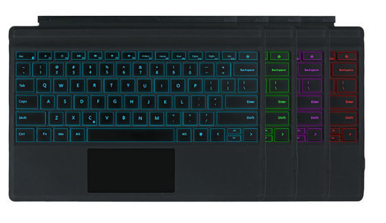 China Multi Color Optional Surface Pro Wireless Keyboard With Backlight And Bluetooth supplier