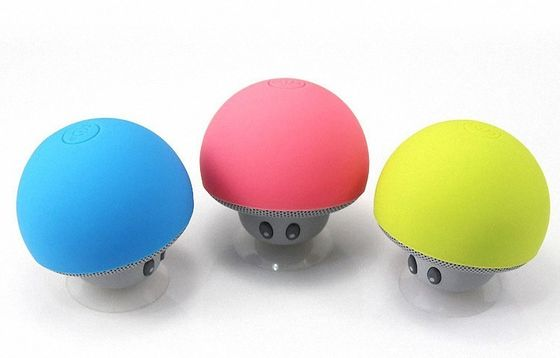 China Colorful Portable Mushroom Bluetooth Speaker 3W Output Power With Sucker factory
